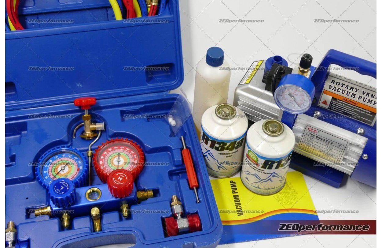DIY R134a car air con refill kit