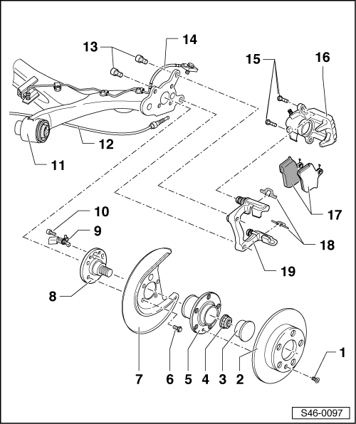 2000 Jetta Rear Caliper Diagram